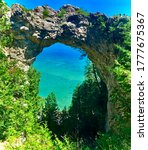 Arch Rock. Located On Mackinac...