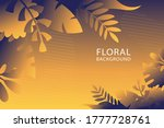creative floral background... | Shutterstock .eps vector #1777728761