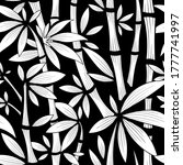 vector black and white bamboo... | Shutterstock .eps vector #1777741997