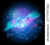 vector illustration of sacred... | Shutterstock .eps vector #1777747361