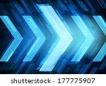 technology future arrows... | Shutterstock .eps vector #177775907