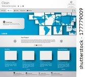 web design vector blue template ...