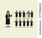character set design for female ...   Shutterstock .eps vector #1777806014