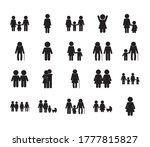 avatars silhouette style icon... | Shutterstock .eps vector #1777815827