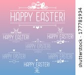happy easter design elements ... | Shutterstock .eps vector #177781934