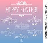 happy easter design elements ... | Shutterstock .eps vector #177781934