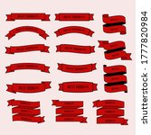 set of red ribbons with text... | Shutterstock .eps vector #1777820984