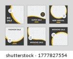 editable template post for... | Shutterstock .eps vector #1777827554