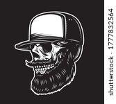 illustration of bearded skull... | Shutterstock .eps vector #1777832564