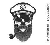 illustration of bearded skull... | Shutterstock .eps vector #1777832804