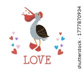 ute pelican love. illustration ... | Shutterstock . vector #1777870934