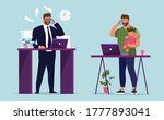 workplace businessman in the... | Shutterstock .eps vector #1777893041