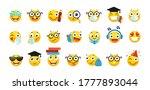 vector set of emoji for school... | Shutterstock .eps vector #1777893044