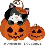 black cat inside halloween... | Shutterstock .eps vector #1777920821