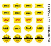 set of of yellow sales label.... | Shutterstock .eps vector #1777922651