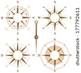 vintage compass icons with... | Shutterstock .eps vector #177792611