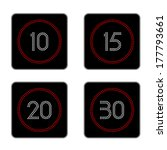 led speed limit signs showing... | Shutterstock .eps vector #177793661