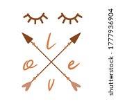 stylized face from eyes arrows... | Shutterstock .eps vector #1777936904