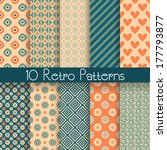 10 retro abstract vector... | Shutterstock .eps vector #177793877