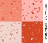 red terrazzo seamless pattern...   Shutterstock .eps vector #1777940201