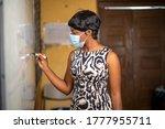Image Of Class Teacher Writing...