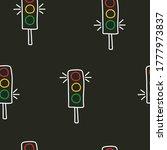 seamless pattern of traffic... | Shutterstock .eps vector #1777973837