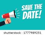 hand holding megaphone   vector ... | Shutterstock .eps vector #1777989251