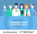 thank you doctors. nurses and...   Shutterstock .eps vector #1778035667