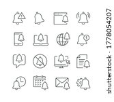 notification related icons ... | Shutterstock .eps vector #1778054207