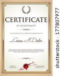 certificate template   Shutterstock .eps vector #177807977