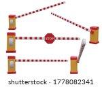 set of parking car barrier gate ... | Shutterstock . vector #1778082341