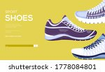 sports shoes concept flyer  web ...