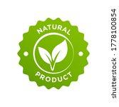 natural organic ingredients... | Shutterstock .eps vector #1778100854
