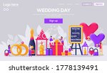 wedding website flyer  web...