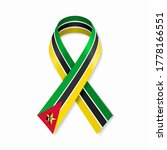 mozambique flag stripe ribbon... | Shutterstock .eps vector #1778166551
