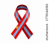 mongolian flag stripe ribbon on ... | Shutterstock .eps vector #1778166581