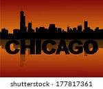 chicago skyline reflected at... | Shutterstock .eps vector #177817361