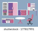flat furniture icons | Shutterstock . vector #177817991