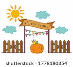 Autumn Harvest Holiday Vector...