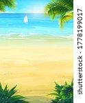 raster background summer... | Shutterstock . vector #1778199017