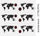 set of dotted world maps in... | Shutterstock .eps vector #177819941