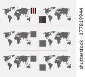 set of dotted world maps in... | Shutterstock .eps vector #177819944