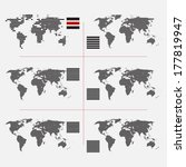 set of dotted world maps in... | Shutterstock .eps vector #177819947