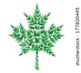 decorative ornament maple leaf | Shutterstock .eps vector #177820445
