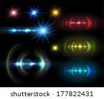 lens flare set . vector... | Shutterstock .eps vector #177822431