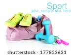 sports bag with sports... | Shutterstock . vector #177823631