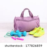 sports bag with sports... | Shutterstock . vector #177826859