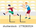athlete trains running with... | Shutterstock .eps vector #1778283524