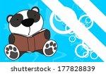 Panda Bear Reading Cartoon...