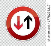 traffic sign no passing. german ... | Shutterstock .eps vector #1778296217